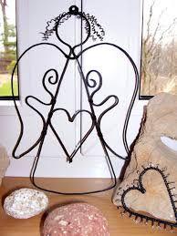 Výsledek obrázku pro anděl z drátků Angel Crafts, Wire Crafts, Wire Art, Wire Wrapping, Place Card Holders, My Style, Christmas, Angel Wings, Jewelry