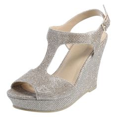 8b22f3725e4 Complete your look with the Lexer Wedge from Fioni. Golden Sandals