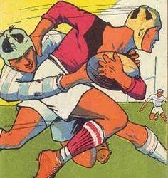 Vintage Rugby Poster