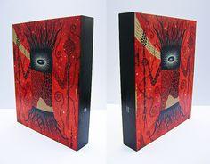 "Mystic Flora Side Views    Mystic Flora, 2012, 8""W x 10""H x 1-1/2""Deep, Acrylic On Wood."