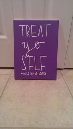 Parks and Recreation Treat Yo Self Canvas Quote by QuotesOfNote, $18.00