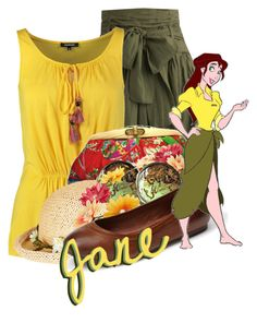 Jane from Tarzan by magykgirlz on Polyvore featuring polyvore, fashion, style, Morgan, Olive, Frye, Uroco, Topshop, River Island and Disney
