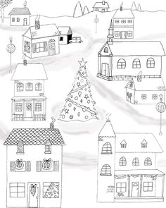 Free Printable Christmas Coloring Page! - The Graphics Fairy