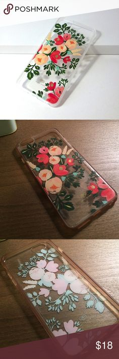 Rifle Paper Co. iPhone 6s PLUS Case Adorable case for the iPhone 6S Plus. Has some natural wear and the rims are discolored. Enjoy this great find! Accessories Phone Cases