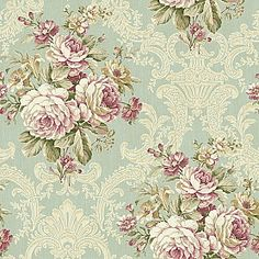 Cottage Elegance - Results from Tapestry Wallpaper, Damask Wallpaper, Love Wallpaper, Pattern Wallpaper, Papel Vintage, Vintage Floral Fabric, Vintage Crafts, Vintage Paper, Paisley Art