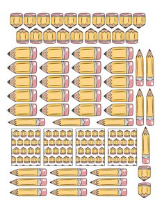 Free Printable Pencil Planner Stickers