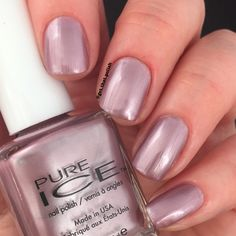 Swatch of Pure Ice nail polish Outrageous by @get.that.polish