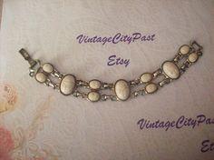 Art Deco Scarab Bracelet, Vintage Costume Jewelry by vintagecitypast on Etsy