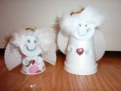 Paper Cup Angels | Christmas crafts for kids