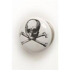 Skull and Cross Bones Ceramic Drawer Dresser Cupboard Pull Knob - White with Black Accents de Ville http://www.amazon.com/dp/B00NDG8QPE/ref=cm_sw_r_pi_dp_gu9cub1WAEMN5