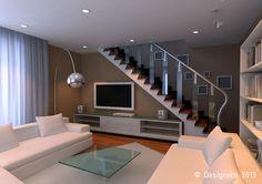 гостиная с лестницей - Поиск в Google