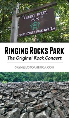 Ringing Rocks Park: The Original Rock Concert Oh The Places You'll Go, Cool Places To Visit, Bucks County Pennsylvania, Centralia Pennsylvania, Hiking Places, Hiking Trails, County Park, Beautiful Places To Travel, Road Trip Usa