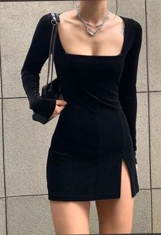 Classy Dress, Classy Outfits, Pretty Outfits, Stylish Outfits, Little Black Dress Classy, Cute Black Dress, Classy Clothes, Black Dress Outfits, All Black Outfit