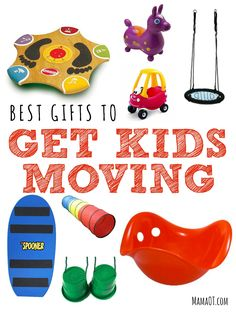 Looking for a toy to help keep the kid(s) in your life active? Then check out these OT-recommended gifts to get kids moving! Gross Motor Activities, Gross Motor Skills, Therapy Activities, Activities For Kids, Sensory Activities, Sensory Play, Therapy Ideas, Baby F, Preschool Gifts