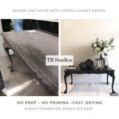 Black Chalk Paint, Easy Diy, Studios, Victorian, Colours, Contemporary, Luxury, Interior, Table