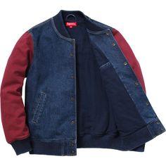 Denim Twill Varsity Jacket