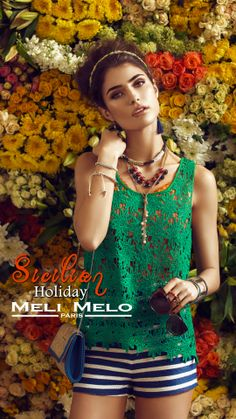 Meli Melo New Summer Campaign 2014 Paris Summer, Summer Campaign, Meli Melo, Sicilian, Summer Collection, All Things, Holiday, Jewelry, Fashion