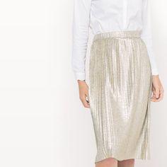 Jupe plissée en lamé MADEMOISELLE R Lace Skirt, Sequin Skirt, Mademoiselle, Leggings, Ideias Fashion, Sequins, My Style, Skirts, Glitter
