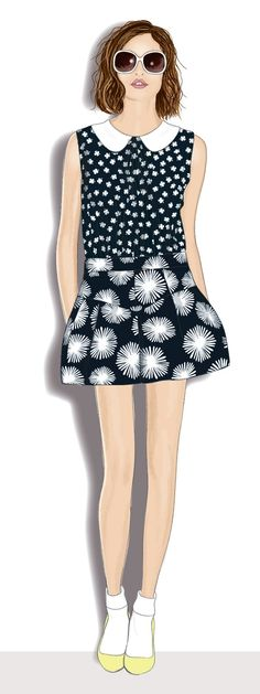 Here is a fashion illustration I created of a piece from Milly's Spring/Summer 2013 Resort collection.