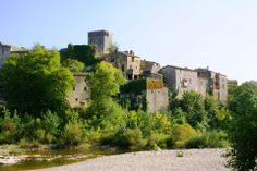 """Encore l'un des """"Plus Beaux Villages de France"""" : Montclus Le Gard, Pont Du Gard, Beaux Villages, France, Small Towns, Life Is Beautiful, River, Mansions, House Styles"""