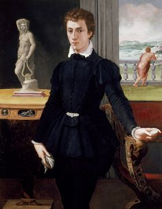 Alessandro Allori, Portrait of a Young Man, c. 1560, Ashmolean Museum, Oxford