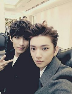 Josh & DK with their hair all done up~
