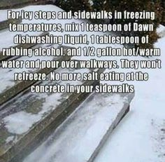 Consider this alternative to sidewalk salt. | Easy Ways To Get Your Home Ready For Winter