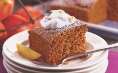 Gingerbread Cake with Peach Whipped Cream: Organic Gardening