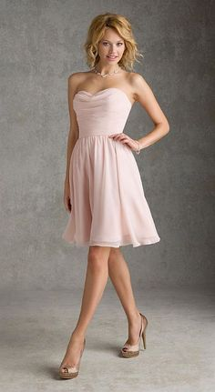 Size 12 Blush Angelina Faccenda 204260 Short Bridesmaid Dress