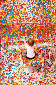 """""""This is What Happens When You Give Thousands of Stickers to Thousands of Kids"""" -Yayoi Kusama"""