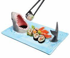 Great White Shark Sushi Plate #shutupandtakemyyen #sushi #japan #merch #merchandise #japanese