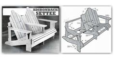 Adirondack Settee Plans - Outdoor Furniture Plans and Projects | WoodArchivist.com