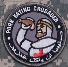 Pork Eating Crusader Morale Patch (SWAT (Black)) MilSpec Monkey