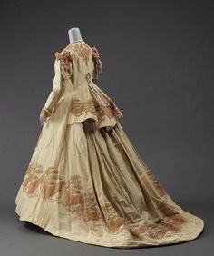 Afternoon gown from the 1860's