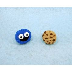 Triki + Cookie,fimo, handmade,hecho a mano,polymer clay,earrings,pendientes,sesame street,