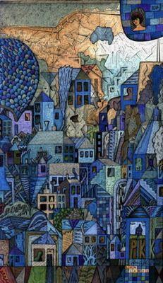 Blue City Quilt ...............