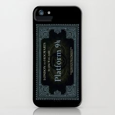 Harry Potter  London+to+Hogwarts+Ticket+iPhone+%26+iPod+Case+by+Bright+Enough+%E2%96%B2+-+%2435.00
