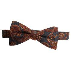 Countess Mara Mens Silk Blend Paisley Bow Tie