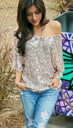 off the shoulder sparkle