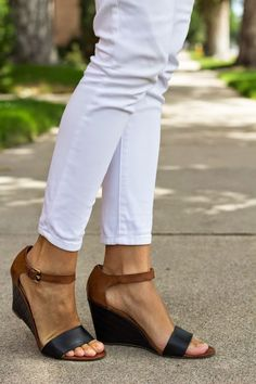 Dear Stylist:  I like the straps and the low wedge on these shoes.