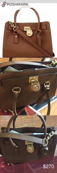 🌺MICHAEL KORS HAMILTON 🌺SATCHEL/ LEATHER It has being authenticated by MK. Letter proof available. Bags Shoulder Bags