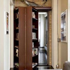 Bookcase hidden door