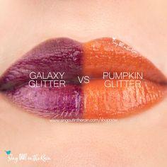 Compare Pumpkin Glitter Gloss vs. Galaxy Gloss using this photo. Pumpkin Glitter Gloss Winter Makeup, Fall Makeup, Cosplay Makeup, Costume Makeup, Glitter Gloss, Theatre Makeup, Eye Treatment, Face Skin Care, Makeup Tips