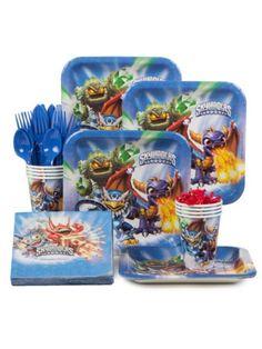 Skylanders Birthday Party Standard Tableware Kit Serves 8| BirthdayInaBox.com