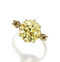 intense Yellow Diamond ring, TIFFANY & CO., circa 1900.