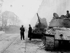 Harcok után az Üllői út .1956.okt.28. Korean War, Budapest Hungary, Cold War, Mount Rushmore, Revolution, Beast, Culture, Memories, History