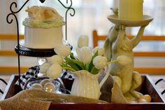 Farmhouse Table Vignette