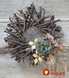 """8 Rustic DIY Twig Christmas Crafts - - I bet the busiest time of year for craft stores is the holiday season. There are so many amazing projects to try, and when you've got Christmas crafts on your holiday """"to do"""" list, you're. Twig Crafts, Wreath Crafts, Craft Stick Crafts, Rustic Crafts, Wreath Ideas, Holiday Crafts, Christmas Wreaths, Christmas Crafts, Christmas Decorations"""