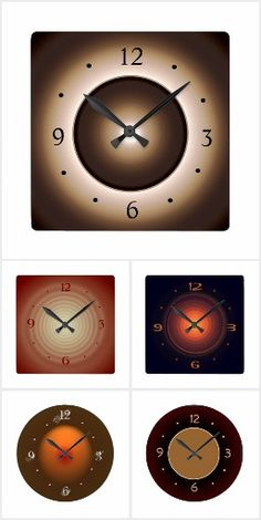 This is the top selling clock from Orientcourt Zazzle Check out more Tan clock designs from this seller ! Minimalist Clocks, Kitchen Clocks, Glow Effect, Brown Kitchens, Factory Design, Wall Design, All The Colors, Flower Designs, Kitchen Design