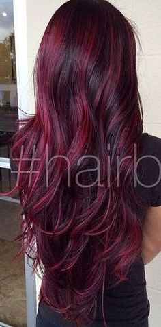New hair color red tips haircuts 60 Ideas Hair Color And Cut, Cool Hair Color, Box Hair Colors, Hair Colour, Red Burgundy Hair Color, Red Color, Easy Hairstyles For Long Hair, Pretty Hairstyles, Men's Hairstyle